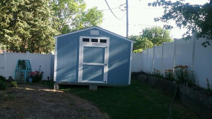 q how can i cover the bottom part of our new shed