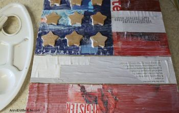 Americana Decoupage Flag Sign