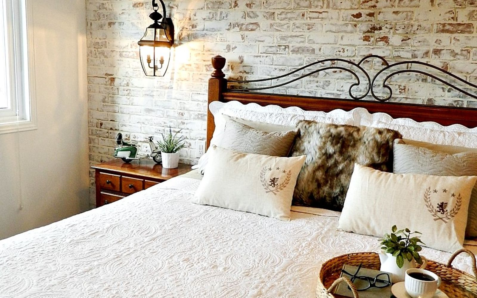 s 15 makeovers that will make you rethink your bedroom, Design A Bedroom For Royalty With Bricks