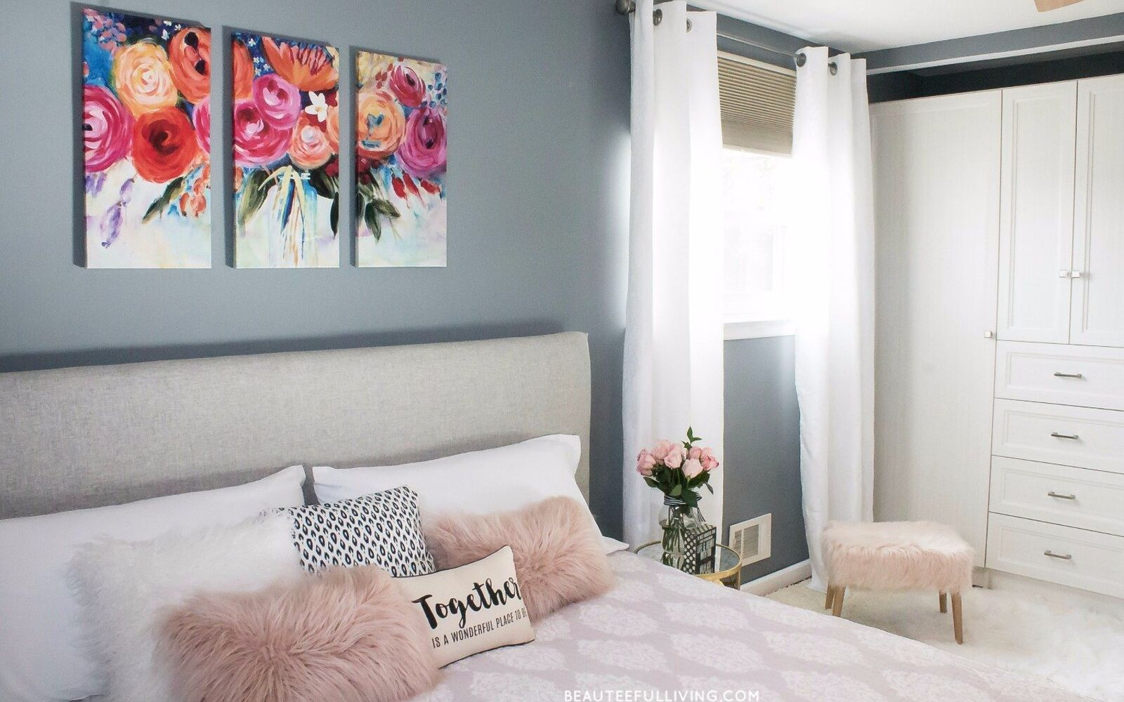 s 15 makeovers that will make you rethink your bedroom, Add Glamour With A Gold Accented Theme