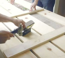 How To Make A Headboard With Embedded Nightstands Hometalk