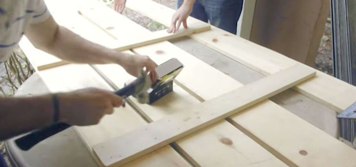 how to make a headboard with embedded nightstands