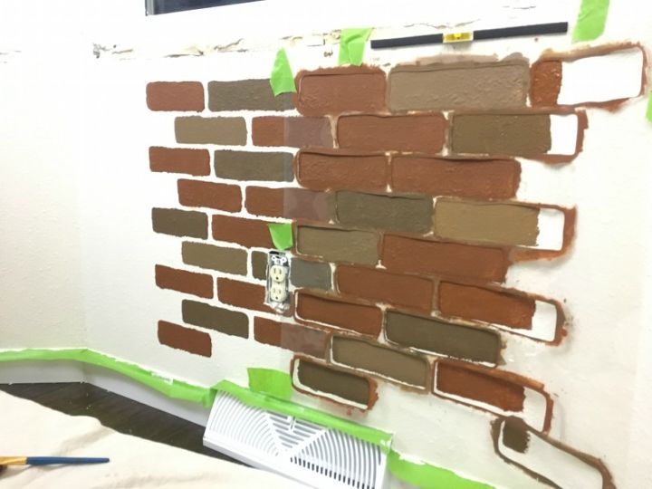 How To Diy A Faux Brick Wall The Easy Way Hometalk