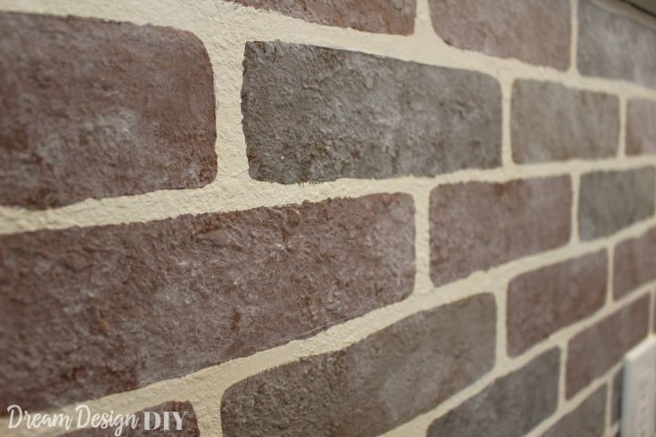 how to diy a faux brick wall the easy way