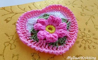 crochet granny square heart free video tutorial