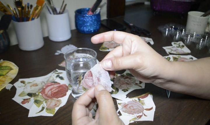 diy decoupage and crackle using elmer s glue