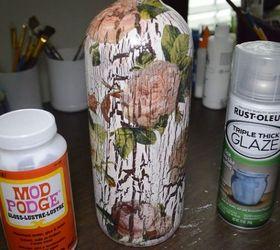 DIY Decoupage And Crackle Using Elmer\u0027s Glue