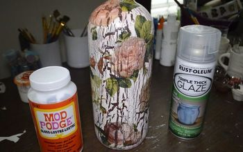 diy decoupage and crackle using elmer s glue