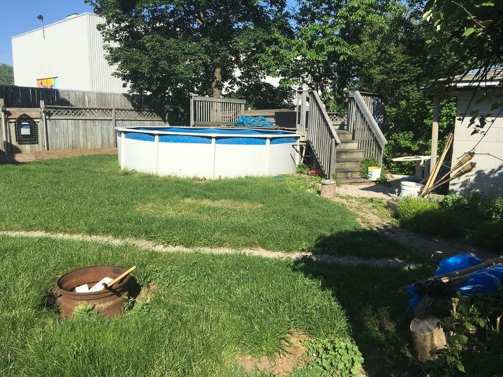 Fun ideas for around an above ground pool? | Hometalk