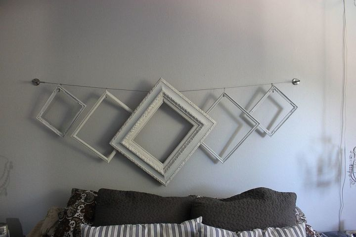 s 23 surprising uses for curtain rings, Make an easy designer headboard with frames