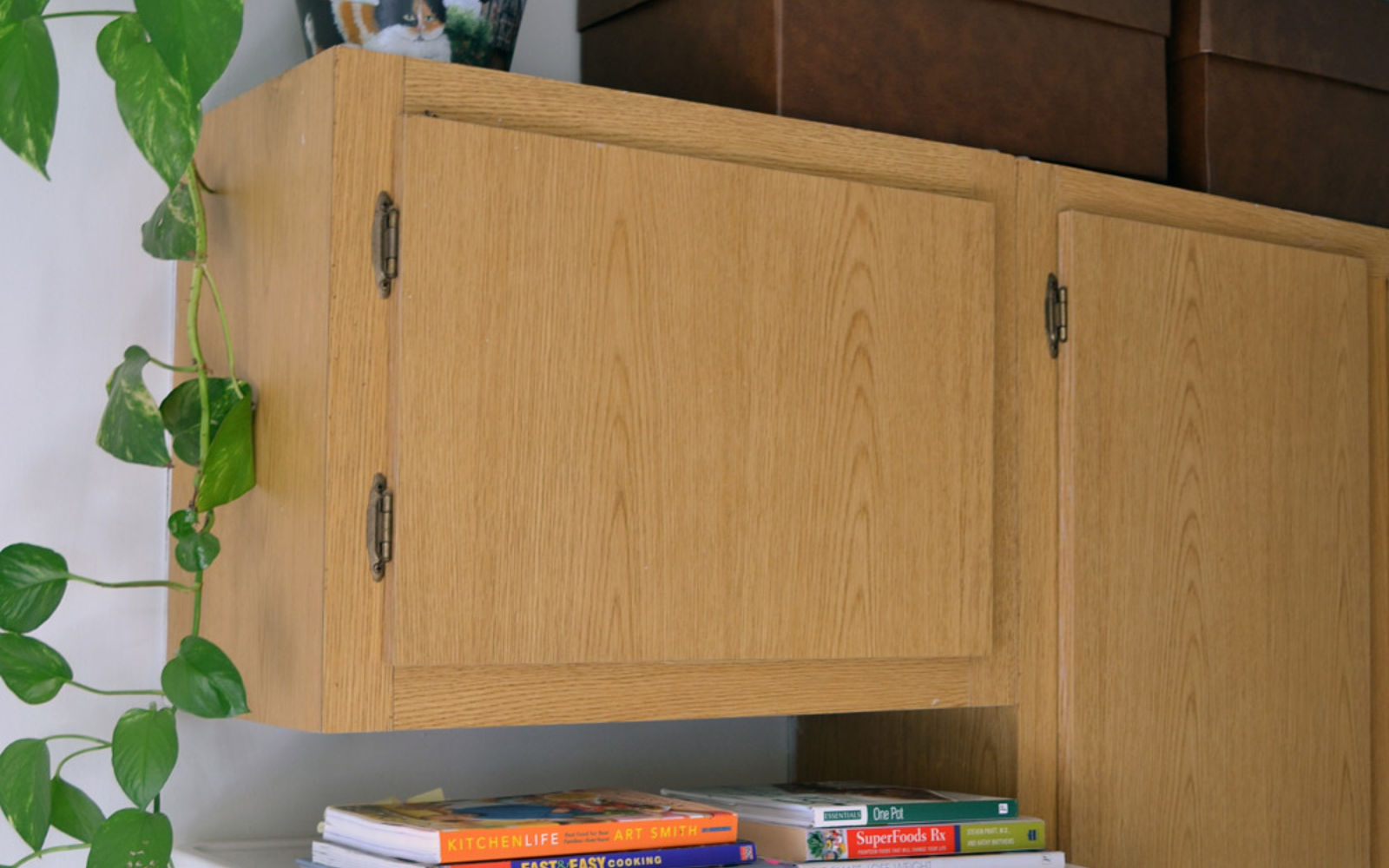 space saving. Fill The Space Above Your Cabinets With Boxes Saving