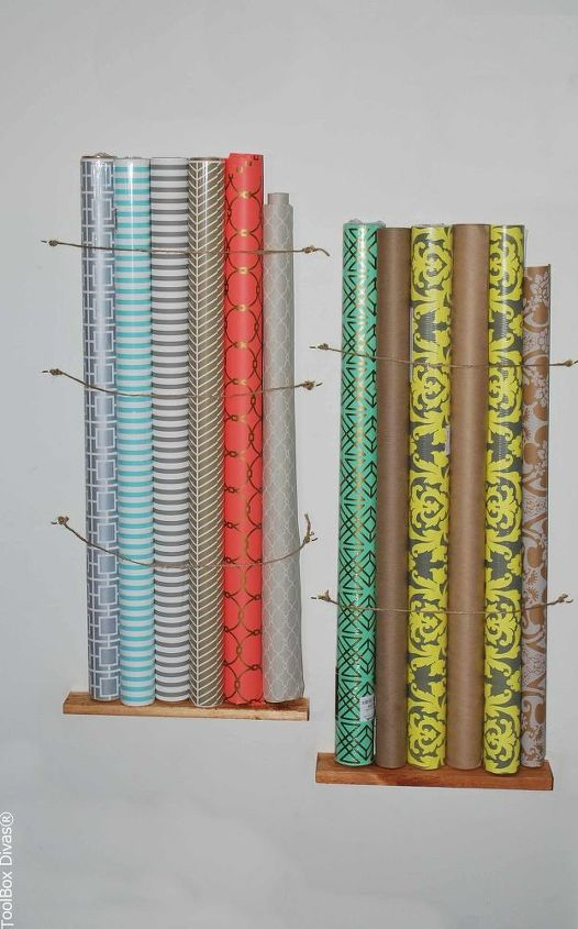 s space saving storage ideas that ll make your house feel much bigger, Put your gift wrap on the wall
