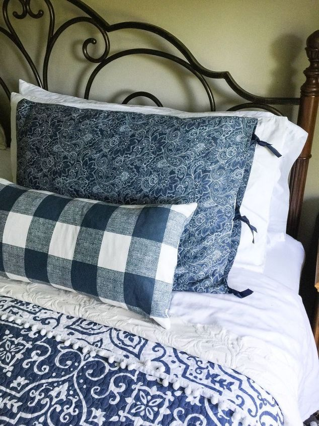 s 30 stylish update ideas you ll want to use for your bedroom, Make your own pillow shams