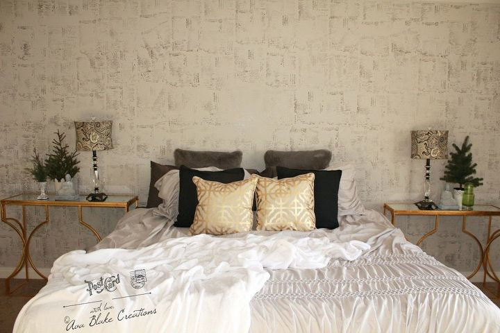 s 30 stylish update ideas you ll want to use for your bedroom, Stencil your walls with stamps