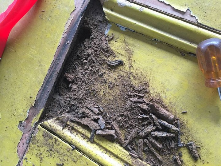 q how do you get ants out of an old door i bought i have used pyrethrum