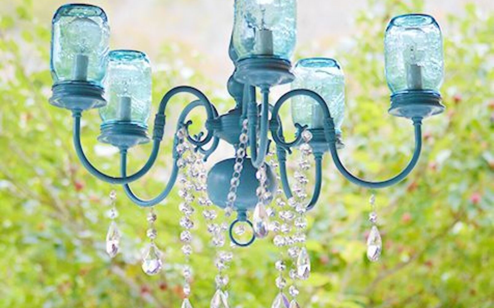 s 30 great mason jar ideas you have to try, Breathtaking Boho Chic Chandelier