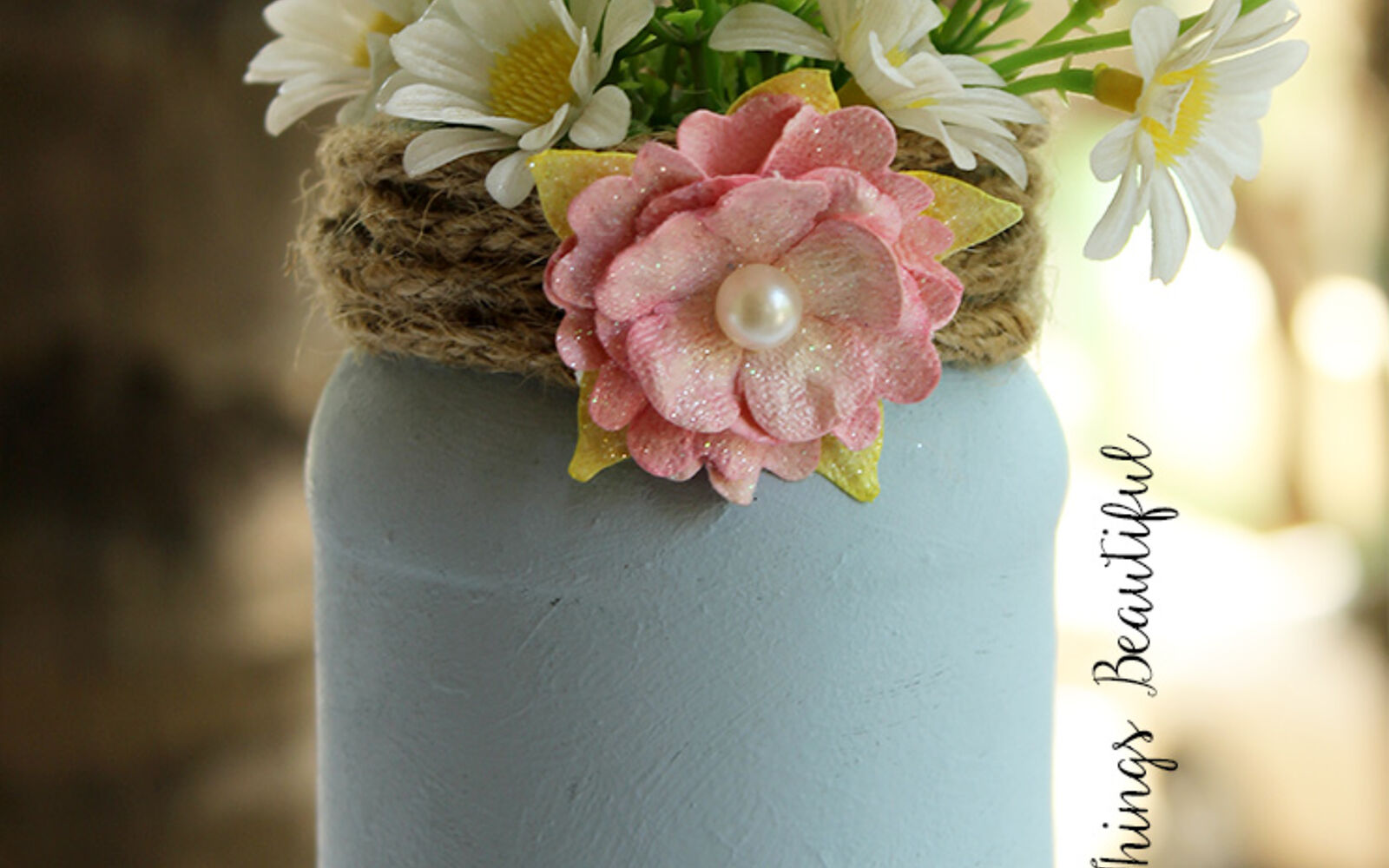 s 30 great mason jar ideas you have to try, Chalk Painted Home Decor