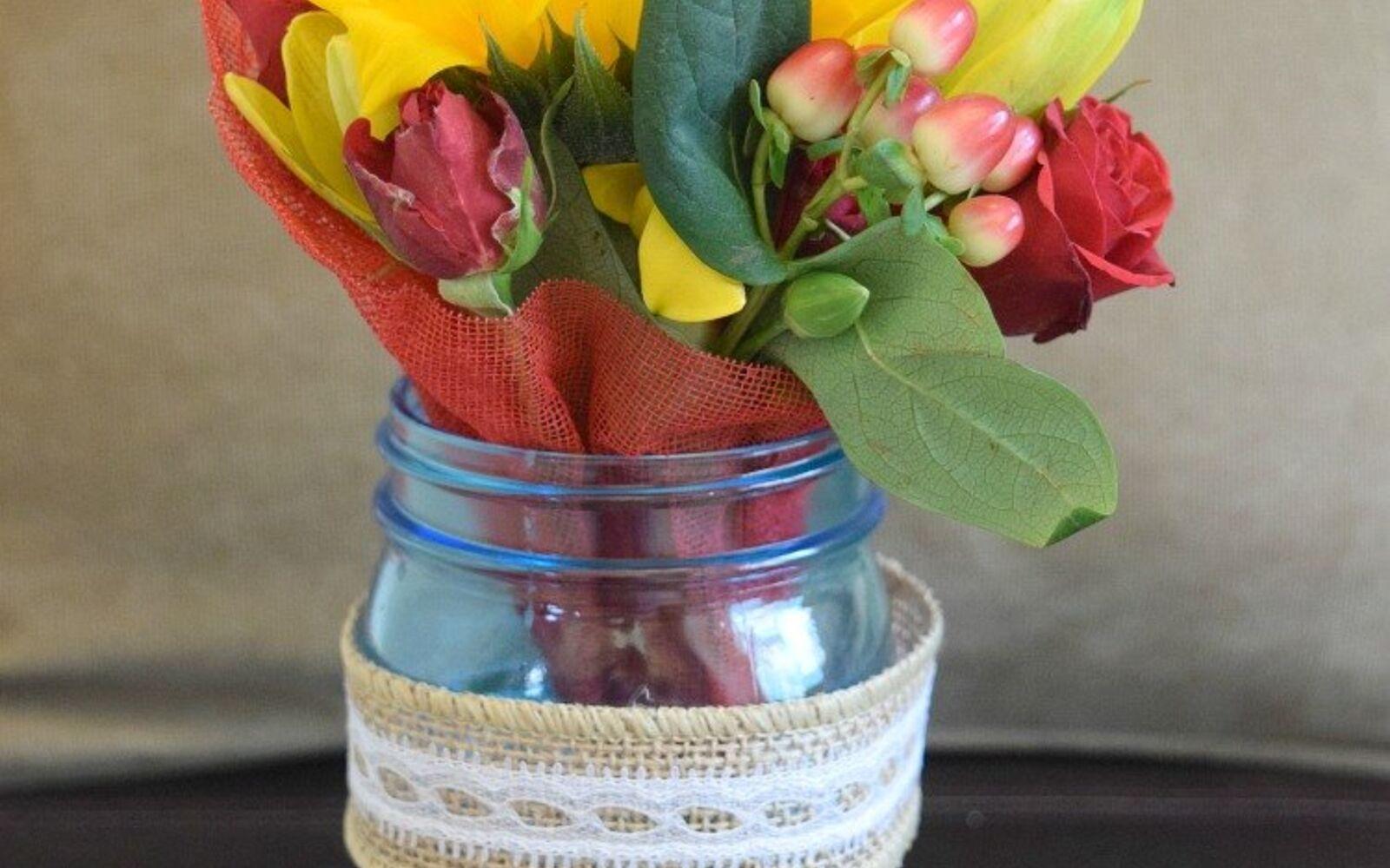 s 30 great mason jar ideas you have to try, Gorgeous Mason Jar Vase