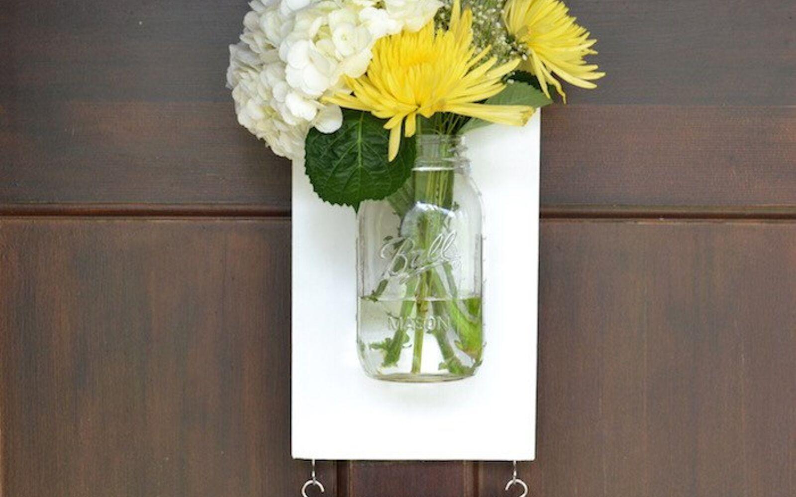 s 30 great mason jar ideas you have to try, Mason Jar Hanging Vase