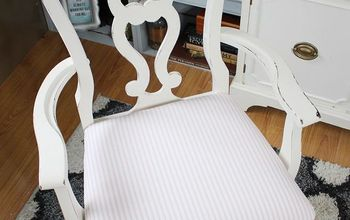 queen anne chair gets a shabby chic makeover
