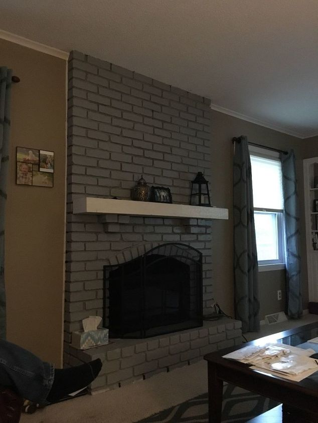 q i painted my brick fireplace and need some ideas of what to do next