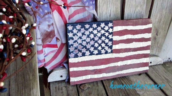 diy painted wooden american flag