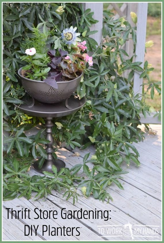 s 31 stunning ways to display your plants, Transform Thrift Store Items Into A Planter