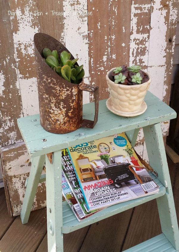 s 31 stunning ways to display your plants, Transition A Step Ladder Into A Stand