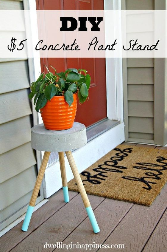 s 31 stunning ways to display your plants, Craft An Affordable Concrete Stand
