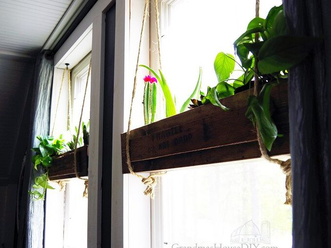 hanging flower boxes in our master