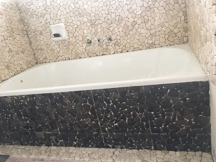 balinese stone mosaic bathroom reno
