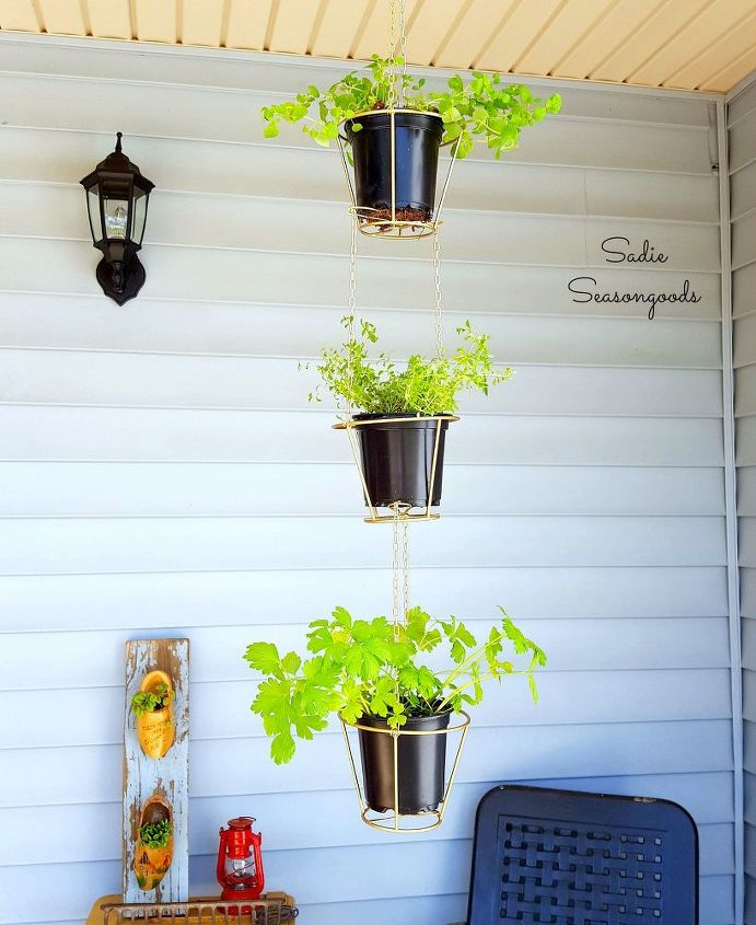 s 16 gorgeous ways to transform your blah lamp, Transform A Thrifted Lampshade Into A Planter