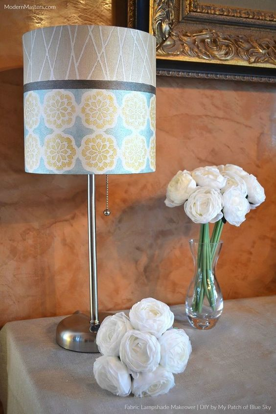 s 16 gorgeous ways to transform your blah lamp, Attach Colorful Tape For A Lamp Revamp