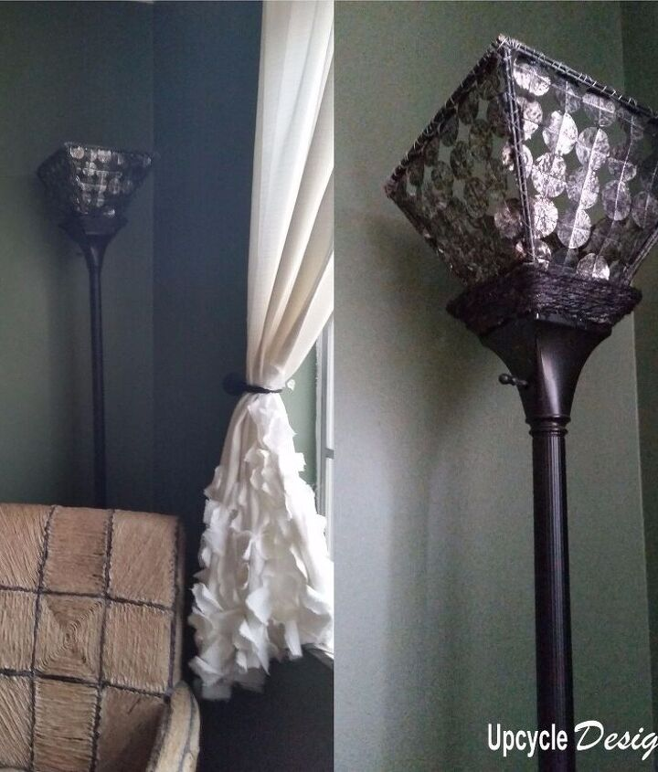 s 16 gorgeous ways to transform your blah lamp, Use Food Wrappers For A Metallic Lampshade