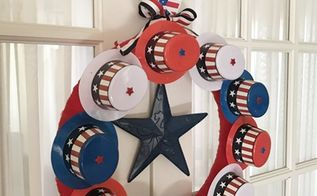 patriotic wreath dollar store craft challenge