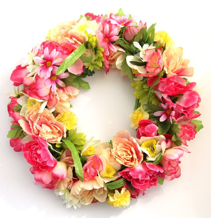 s 10 wreath ideas to brighten up your front door, Make A 300 Wreath For 15 Instead