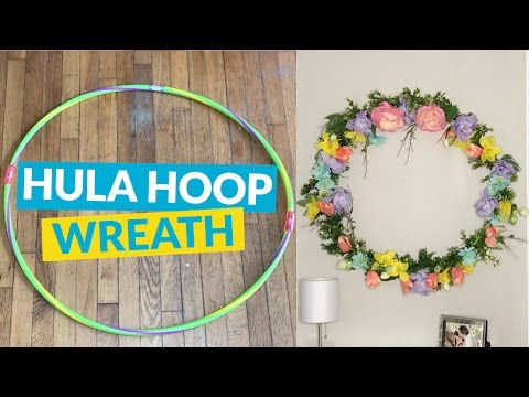 s 10 wreath ideas to brighten up your front door, Hang Your Hula Hoop Up As A Wreath