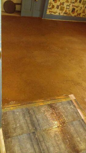 Brown Paper Bag Floor Over Tile Choice Image - modern flooring ...