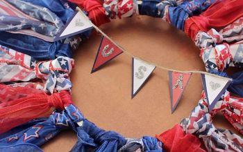 DIY Fourth of July Ribbon Wreath