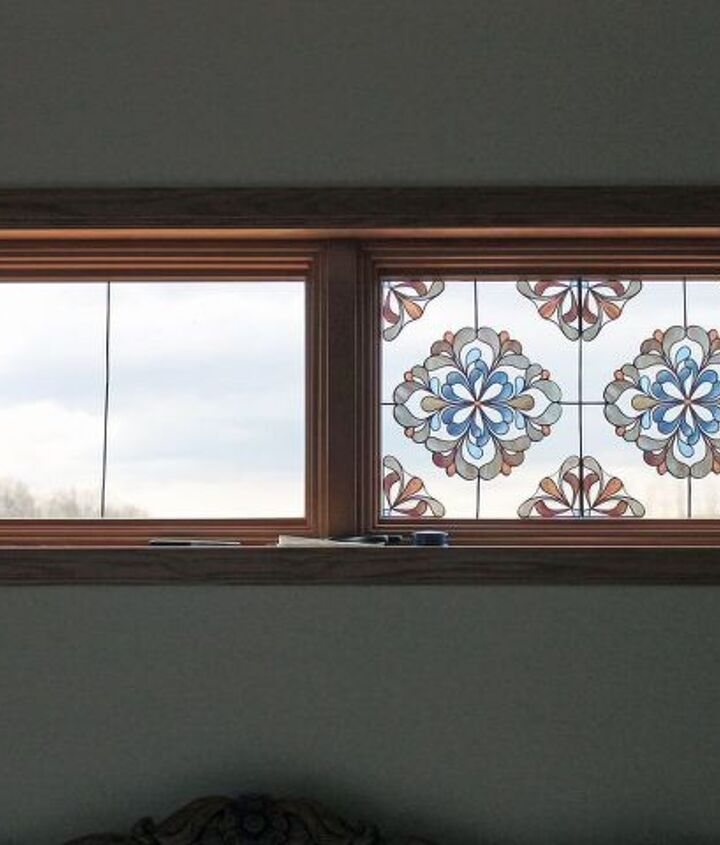 s 30 ways to get privacy inside and outside your home, Create a faux stained glass window