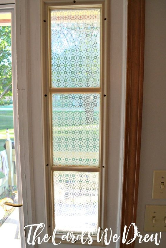 s 30 ways to get privacy inside and outside your home, Stencil a frosted pattern onto the glass
