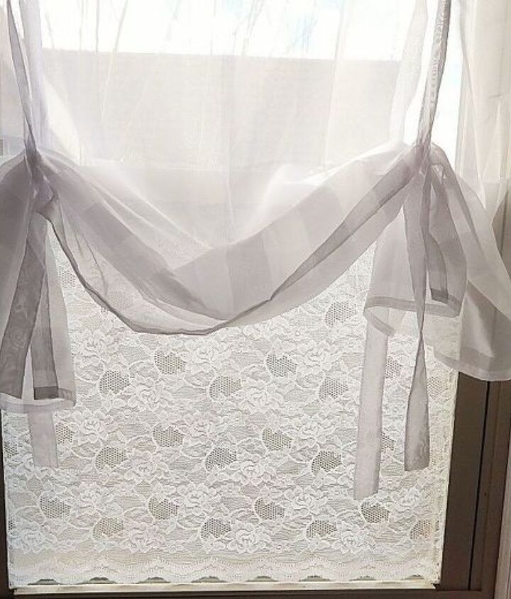 s 30 ways to get privacy inside and outside your home, Decoupage lace material onto the glass