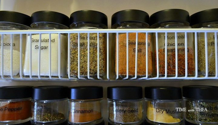 s 33 space saving storage ideas that ll keep your home organized, Use jars to organize your spices