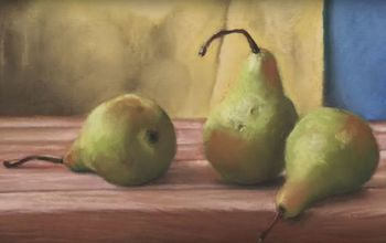 How to Paint a PEAR With Acrylic Paint, 4 Easy Steps, for the Beginner