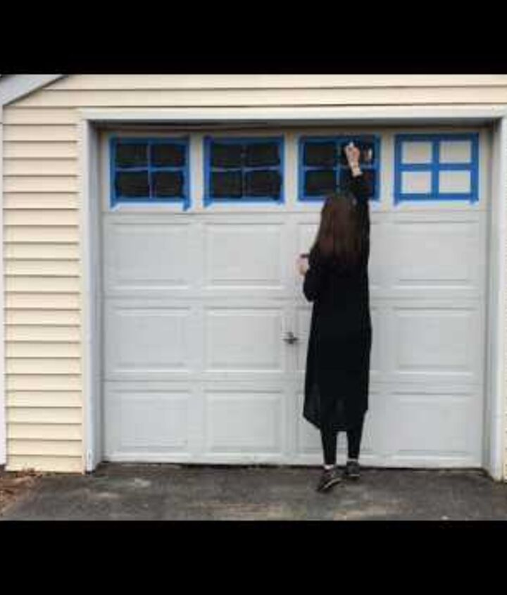 s 10 awe inspiring ways to vastly improve your home this weekend, Give That Dusty Garage Door A Facelift