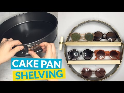 s 10 unusual shelving projects to practice on today, Ditch The Pastries To Have A Cake Pan Shelf
