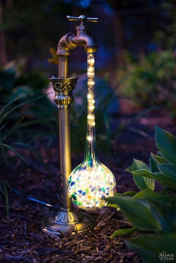 diy waterdrop solar lights