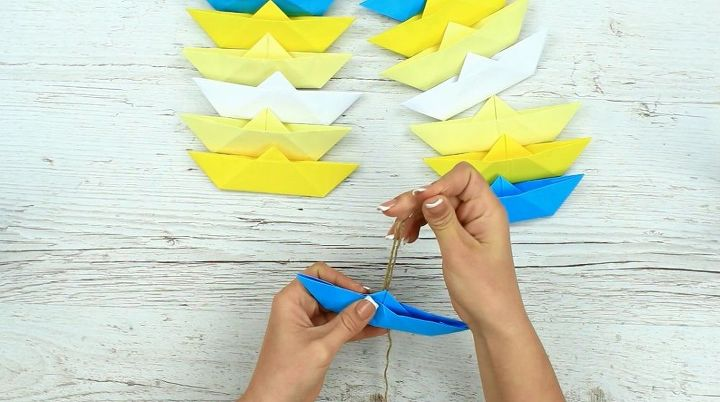 diy paper boat garland