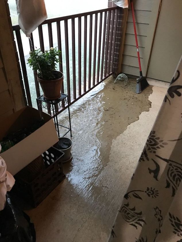 q how can i keep my porch from flooding when it rains