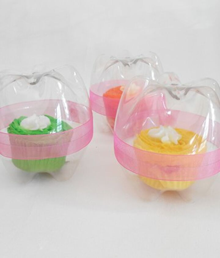 s 30 useful ways to reuse plastic bottles, Repurpose them as cupcake holders